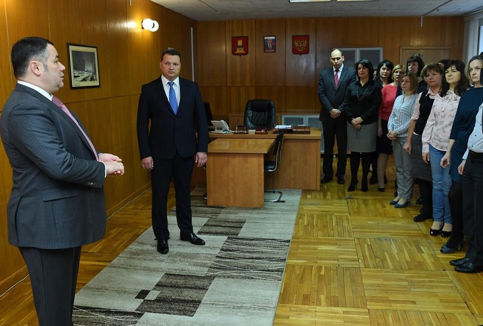 Игорь Руденя представил нового министра сельского хозяйства Константина Каравайного Фото: ПТО