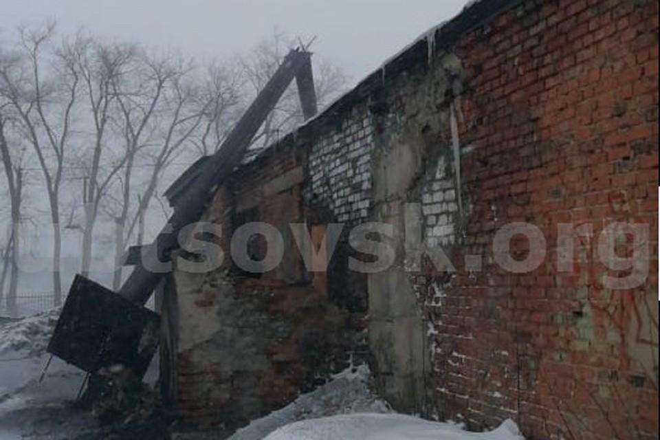 Упавшая труба (фото: пресс-служба администрации Рубцовска)