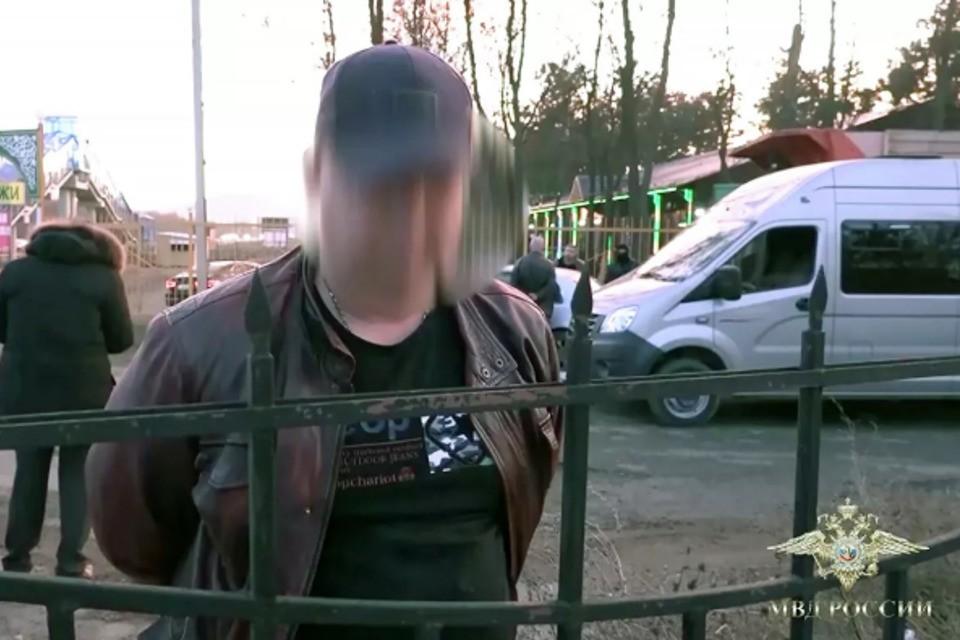 Кадры задержания. Фото: пресс-служба МВД России
