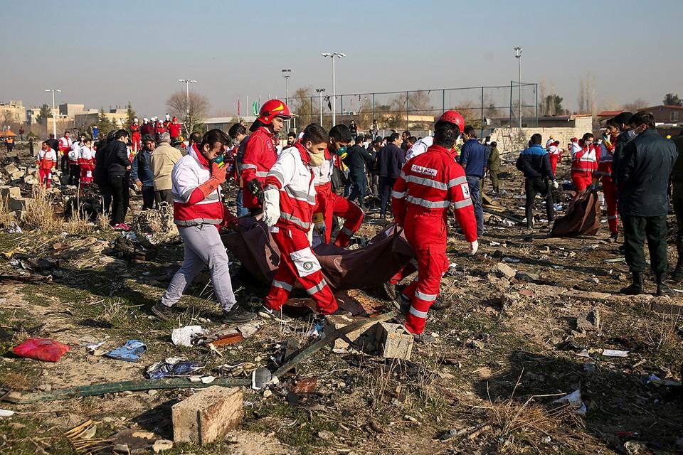 Спасатели находили фрагменты фюзеляжа по всей округе - на футбольном поле, в садах и огородах