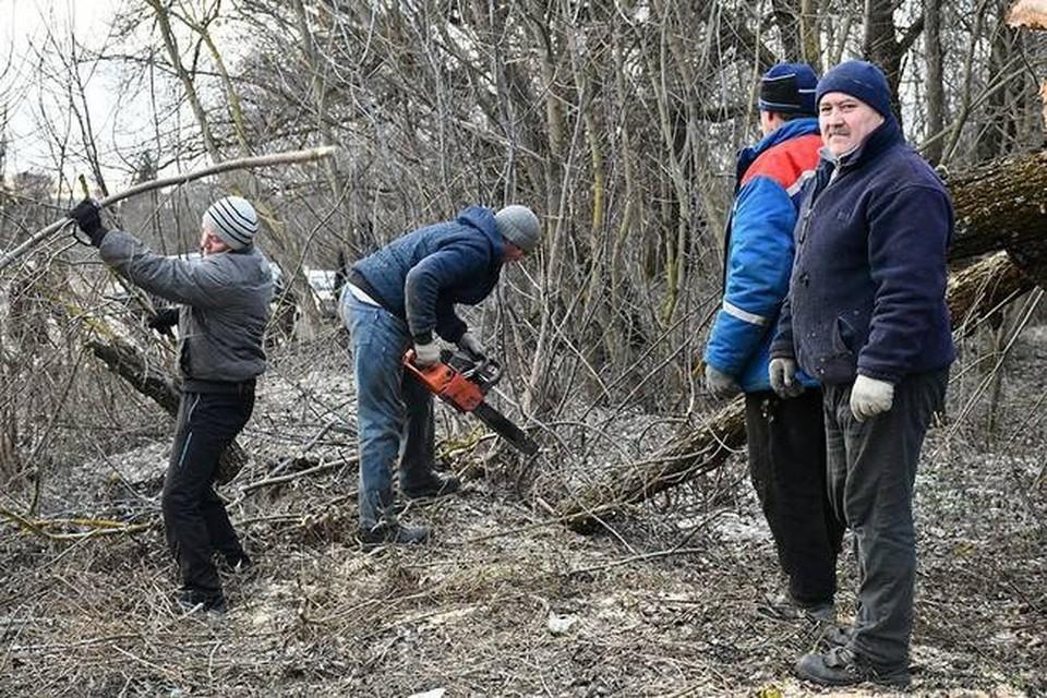 Жители Борисовки Белгородской области очистили территорию вокруг озера Баланда