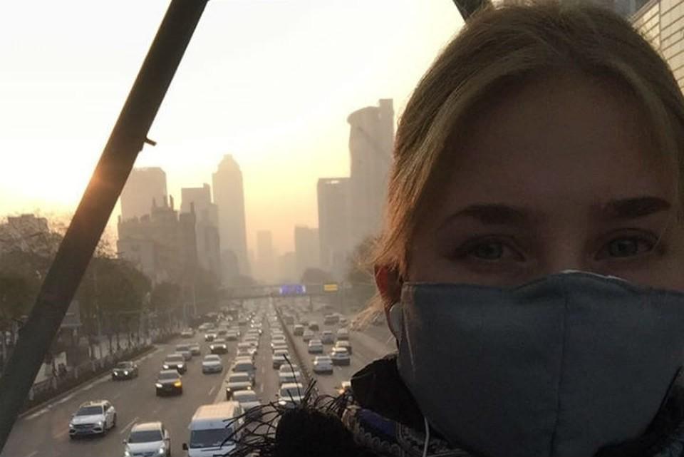 Валерия Травина не выходит на улицы Уханя без маски. Фото: личный архив