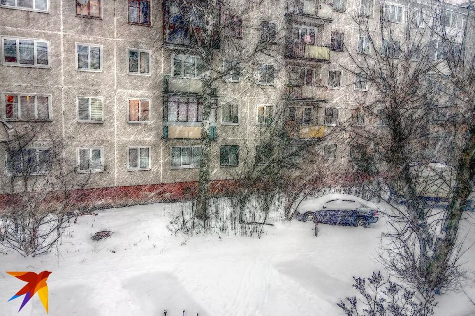 Снегопад в Твери усилился.