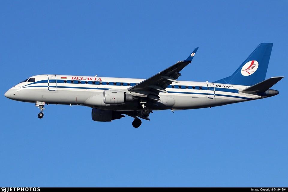 """Этот борт авиакомпании """"Белавиа"""" вернули, когда он уже почти долетел до границы с Германией. Фото: hetphotos.com."""