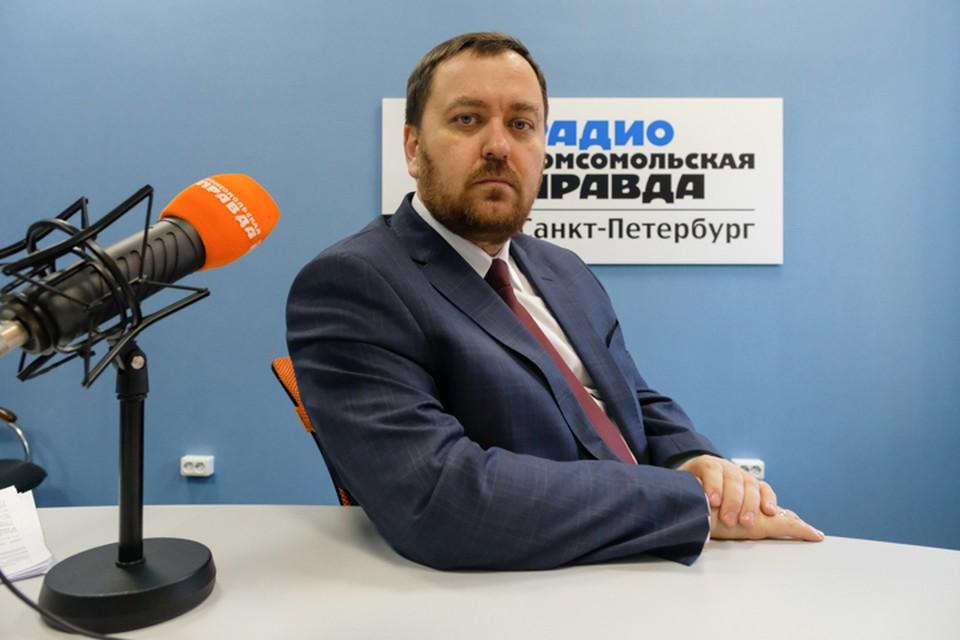 Александр Гаврилов в студии радио «Комсомольская Правда в Петербурге», 92.0 FM