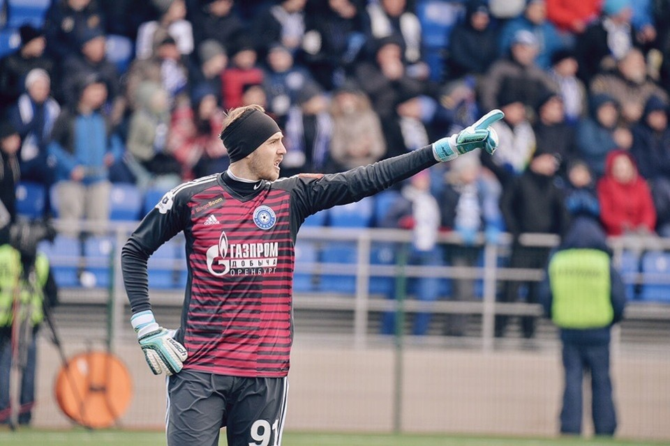 За «Оренбург» Фролов играл с 2017 по 2019 год. Фото: ФК «Оренбург».