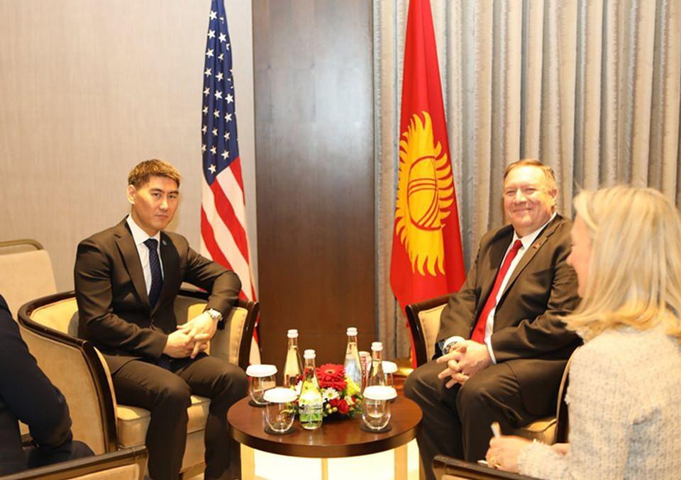 Встреча Айдарбекова и Помпео прошла в Ташкенте.