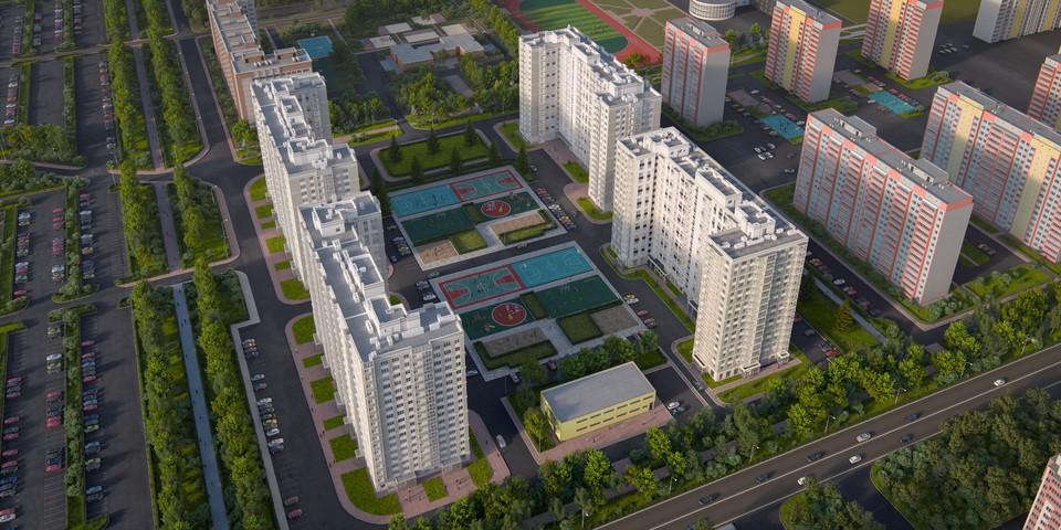 Внутридворовое пространство жилого квартала будет четко зонировано для детского и взрослого отдыха.