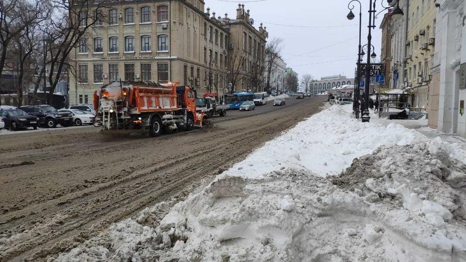 Во Владивостоке не исключена вероятность снега, сохраняется метель и гололедица.