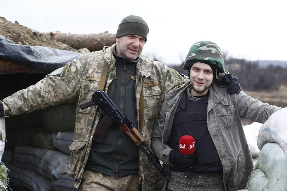 """ВСУшник журналисту - """"Мы расстреливаем для вас"""". Фото: сайт """"ООС"""""""