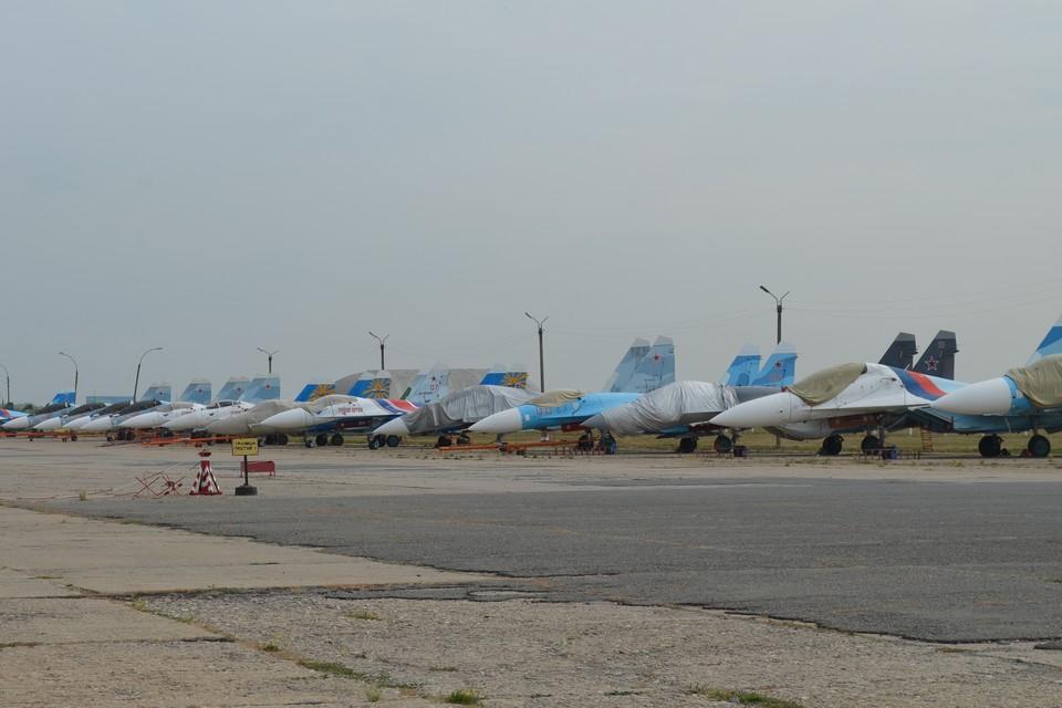 На липецком аэродроме при взлете загорелся штурмовик Су-25