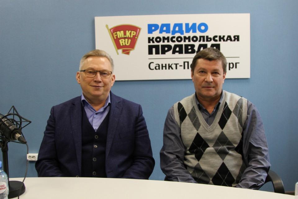 Сергей Зеленьков и Юрий Лавров в студии радио «Комсомольская Правда в Петербурге», 92.0 FM