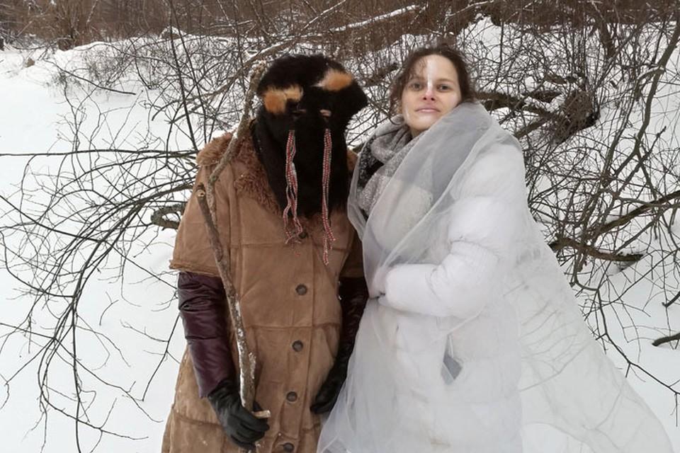 """Зиме обломали рога: Нижегородские язычники отпраздновали Велесов день и прогнали холода. ФОТО: религиозная группа """"Тихий берег"""""""