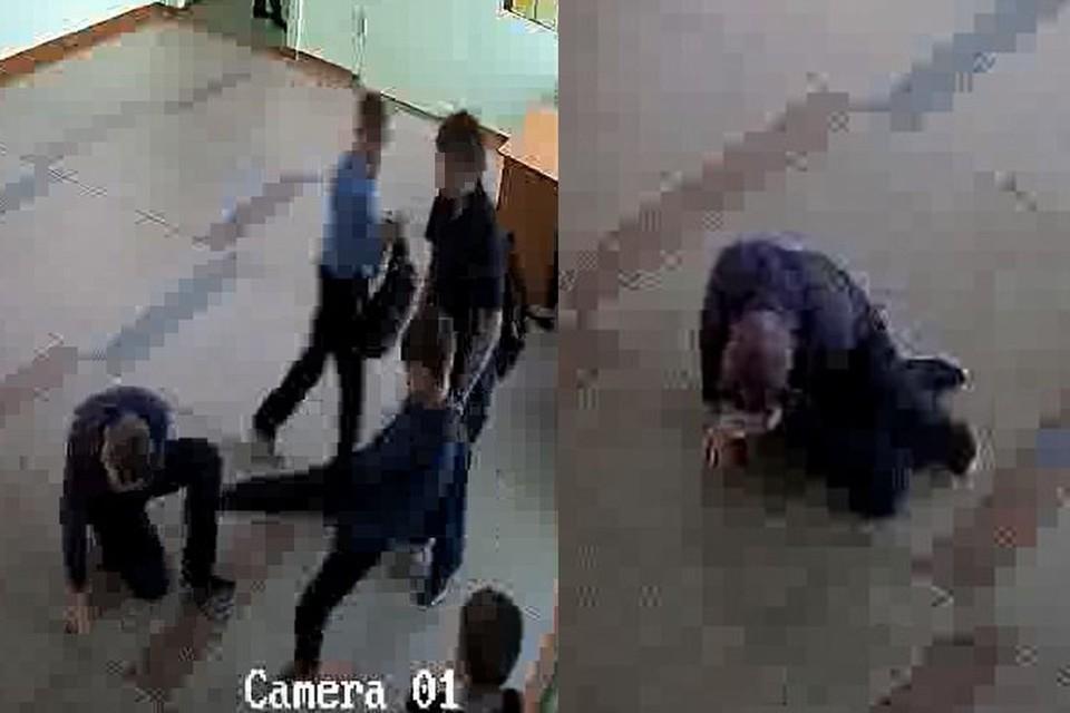 Подростки не пощадили семиклассника. Фото: стоп-кадр.