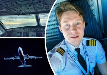 «Это надо снять»: пилот из Челябинска с глазами цвета неба делится фото и видео из кабины самолета