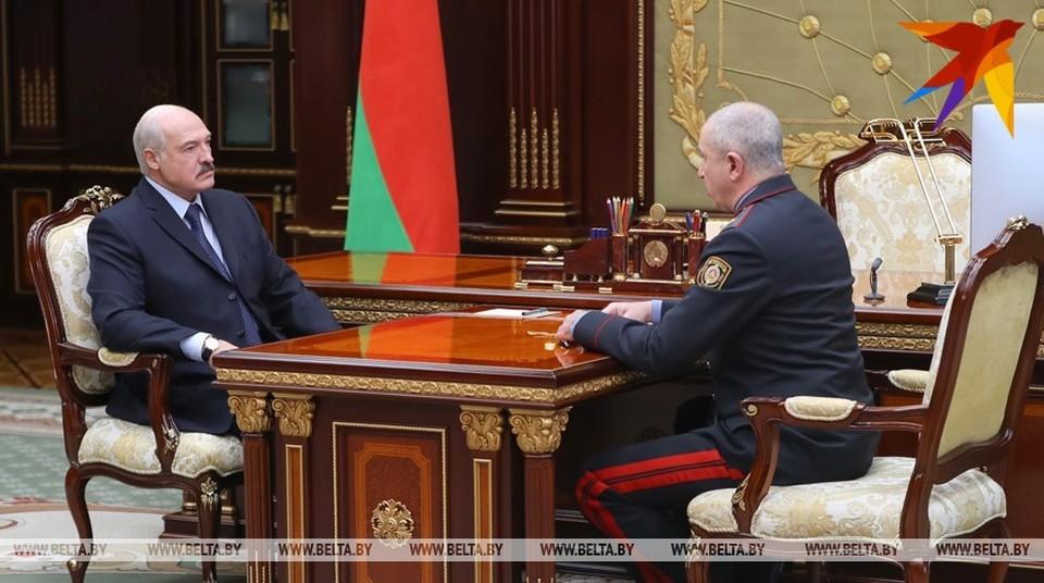 Александр Лукашенко и Юрий Караев. Фото: БелТА