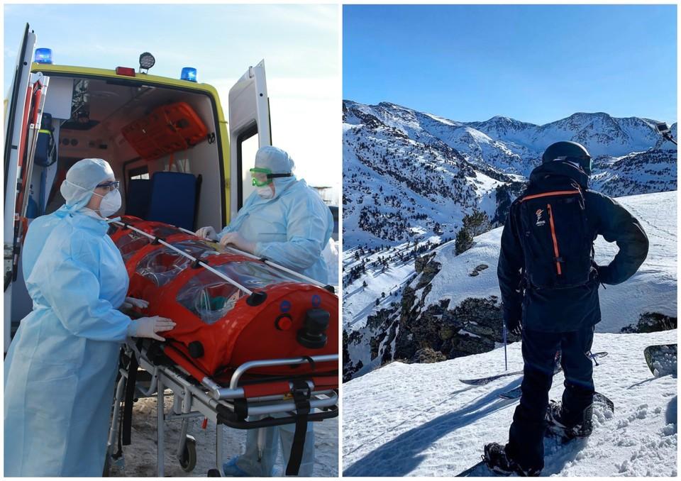 Молодой человек и его друзья катались на горнолыжном курорте в Андорре, затем вылетели из Барселоны