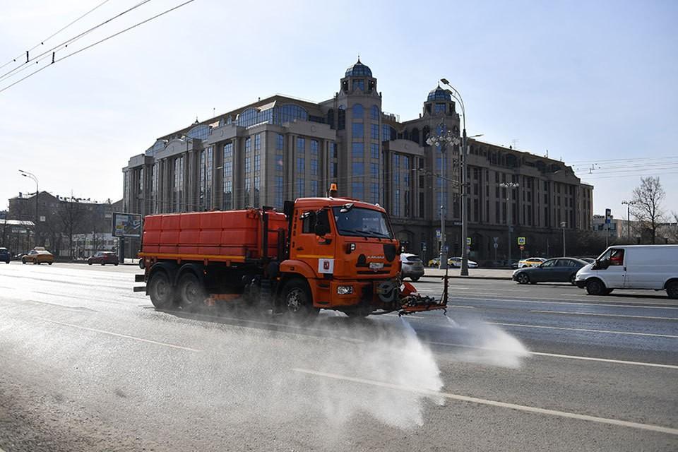 В субботу улицы столицы обработают специальными дезинфицирующими средствами.