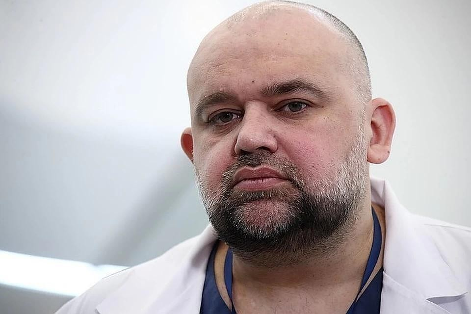 Главврач больницы в Коммунарке Денис Проценко.Фото: Валерий Шарифулин/ТАСС