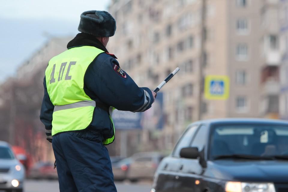 На въездах в Калининград инспекторы ГИБДД выясняют у водителей цели поездок