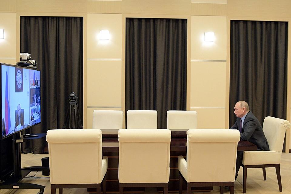 Владимир Путин провел Совещание с постоянными членами Совета Безопасности. Фото: Алексей Дружинин/ТАСС