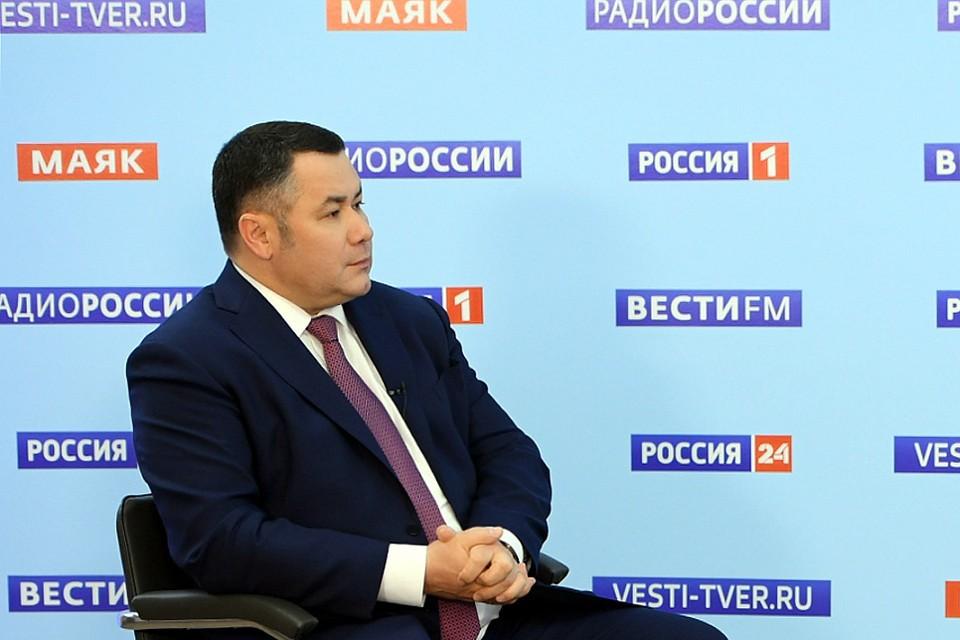 Губернатор вновь появился в эфире на ТВ. Фото: ПТО