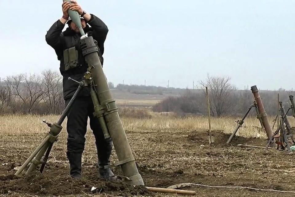 ВСУ 13 раз нарушили режим прекращения огня, выпустив по территории ДНР 233 снаряда, мины и гранаты. Фото: Пресс-центр штаба ООС