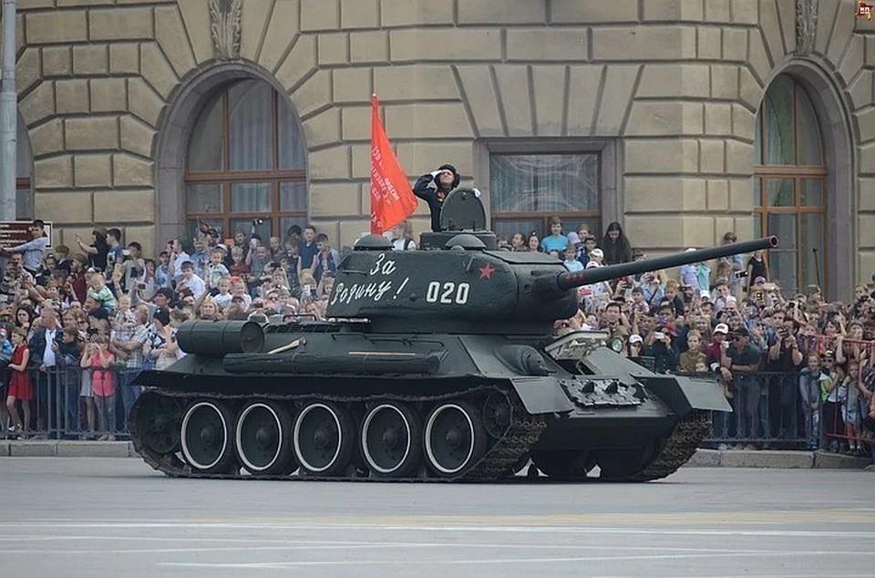 Возглавит колонну танк Т-34.
