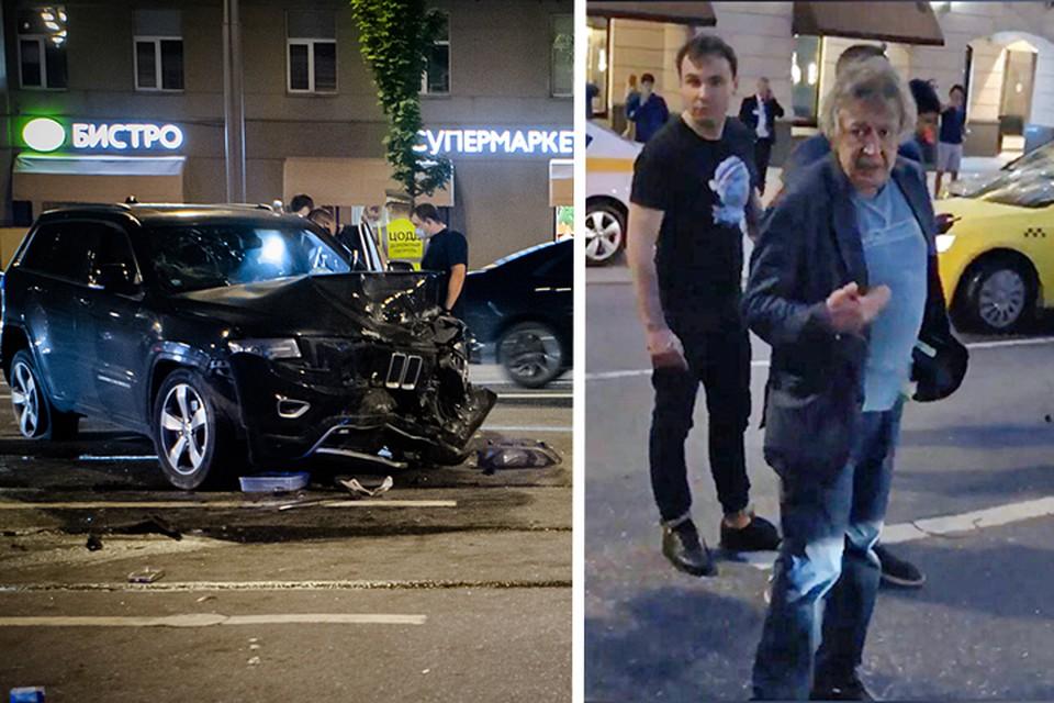 В момент аварии на Садовом кольце Ефремов был пьян. Фото Роман Канащук/ТАСС и скриншот видео
