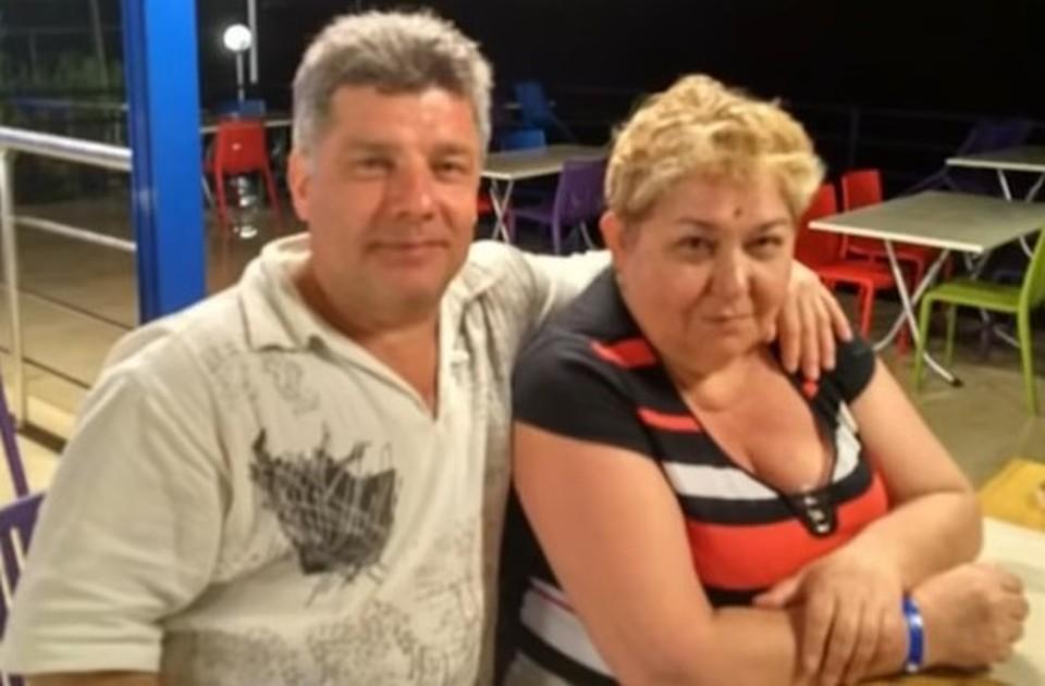 Погибший в результате ДТП Сергей Захаров с супругой Татьяной.
