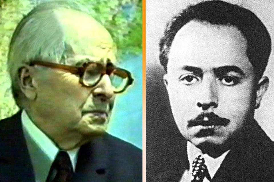 Герой России Ян Петрович Черняк в 1994 году (слева) и в молодости.