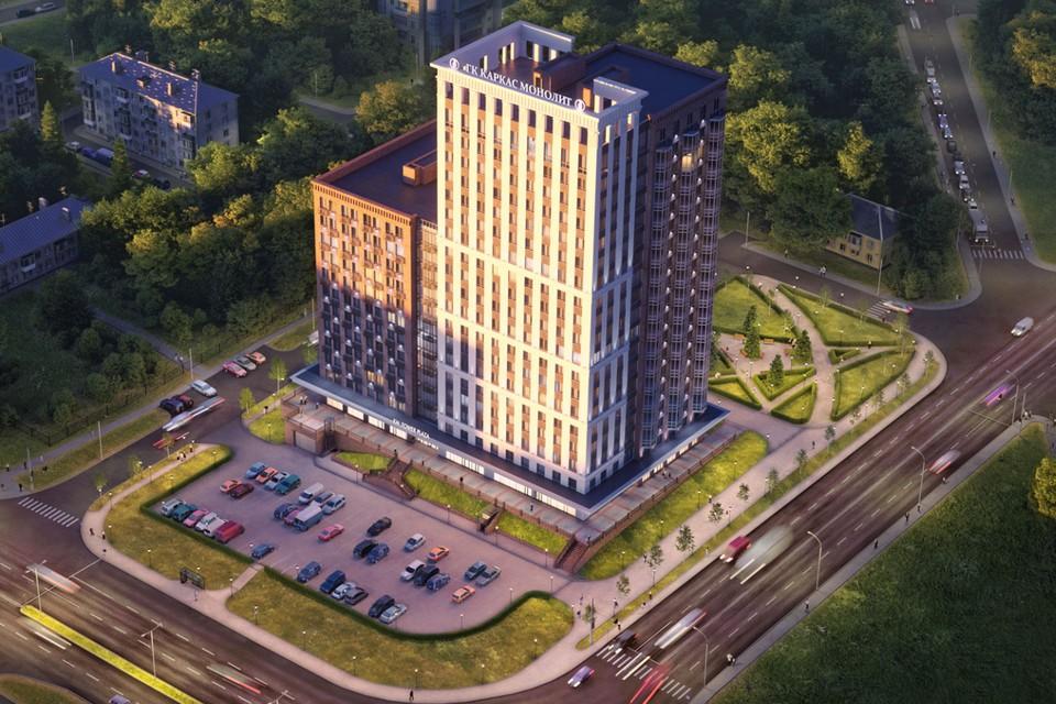 Первый и единственный на сегодняшний день в городе комплекс апартаментов KM Tower Plaza откроет для вас новый сегмент городской недвижимости. Фото: сайт ГК «Каркас Монолит»