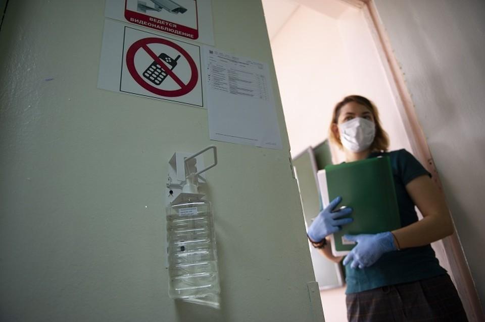 В помещениях, где выпускники сдают экзамены, проходят специальную санитарную обработку