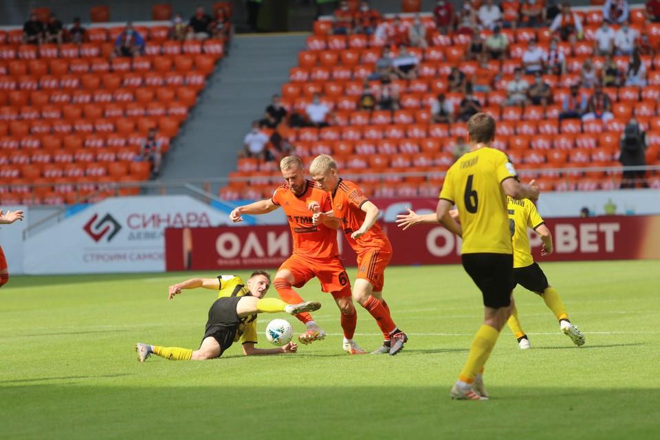 Игра обернулась поражением для уральской команды. Фото: ФК «Урал»