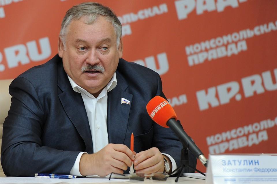 Первый зампред комитета Госдумы по делам СНГ Константин Затулин.