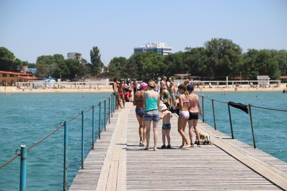 Температура воды в Черном море 27 июля 2020.