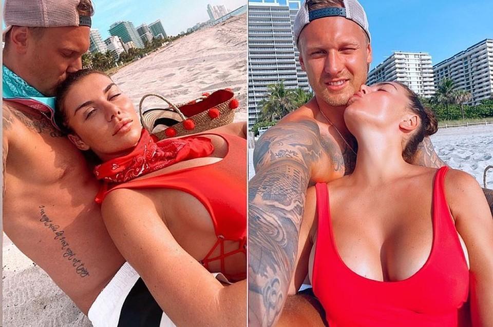 Анна Седокова и Янис Тимма обручились в Майами. Фото: Инстаграм.
