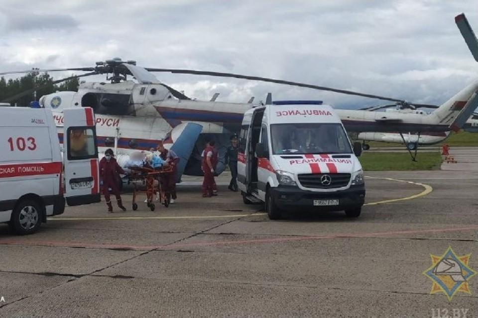 Авиация МЧС помогла в перевозке пострадавших на Светлогорском комбинате. Фото: МЧС