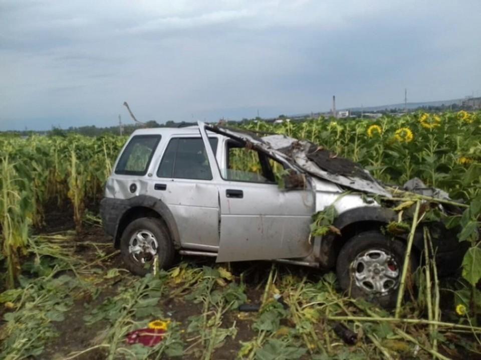 Водитель не справился с управлением из-за мокрой дороги. Фото: protv.md