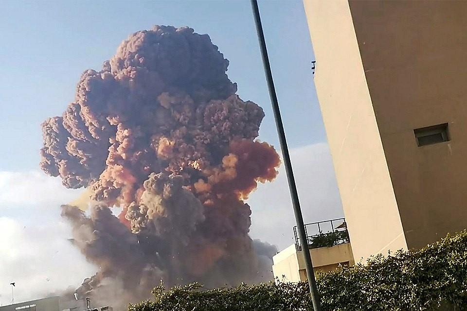 Взрыв в столице Ливана 4 августа. Фото: REUTERS