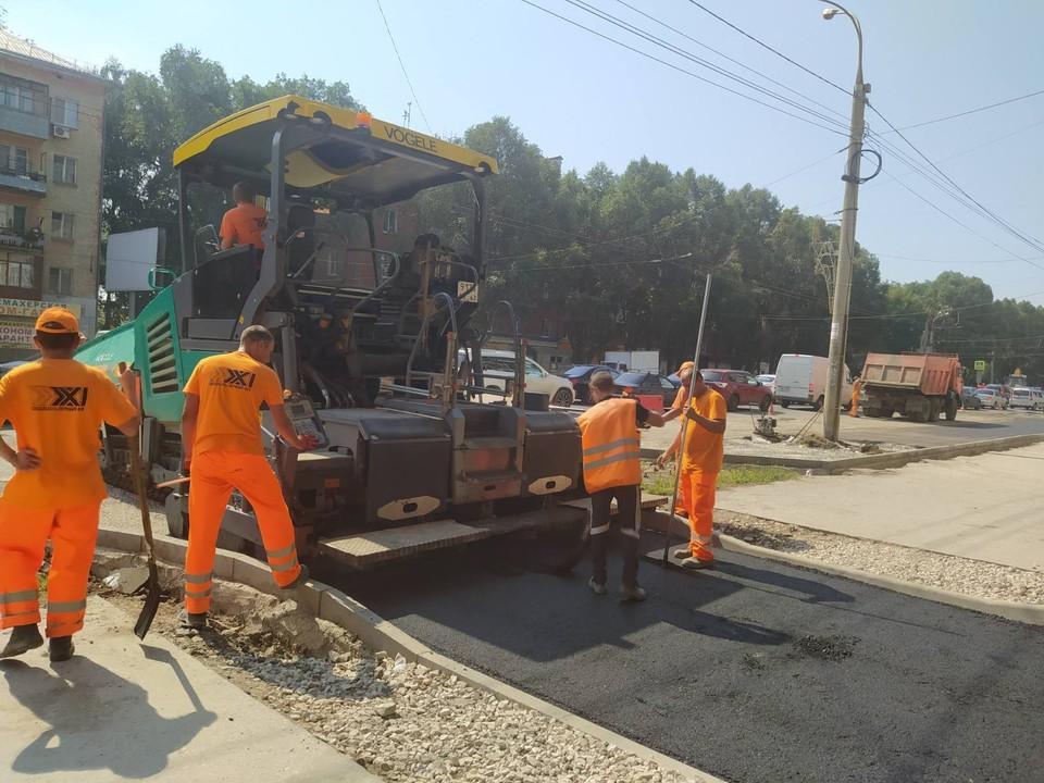 В Самаре ремонтируют улицу Победы