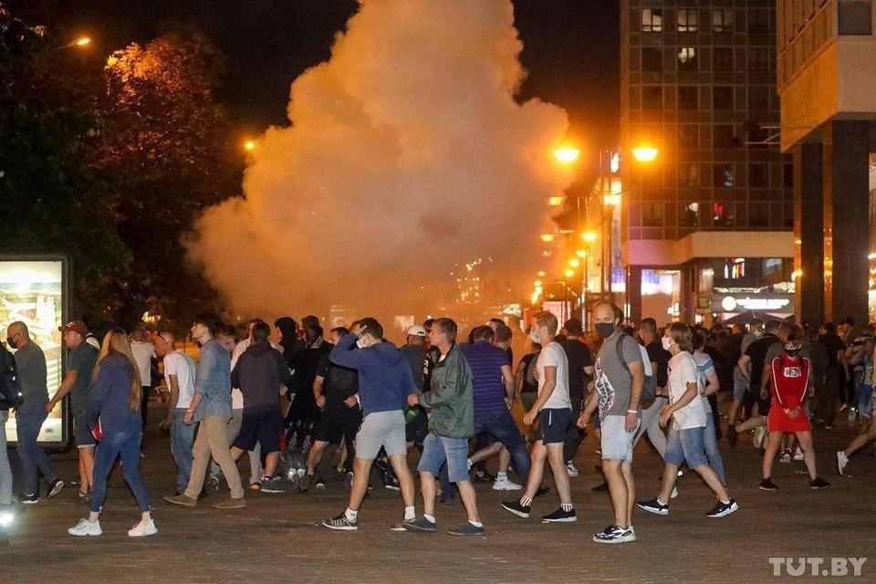 За короткое время силы протестующих в Минске стали больше. Фото: tut.by