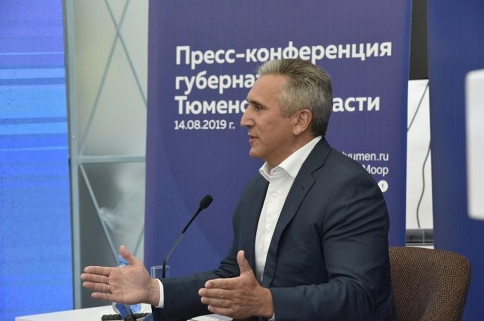 Губернатор Александр Моор отметил на вопросы журналистов