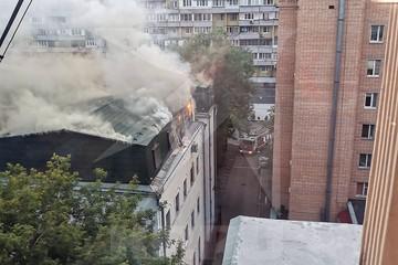 Отдел ФСБ в Москве загорелся в пятницу вечером