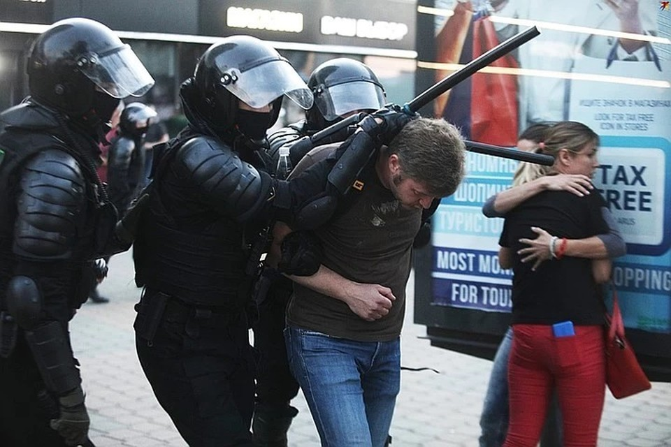 Протесты, разразившиеся в Беларуси после выборов подавлялись с особой жестокостью