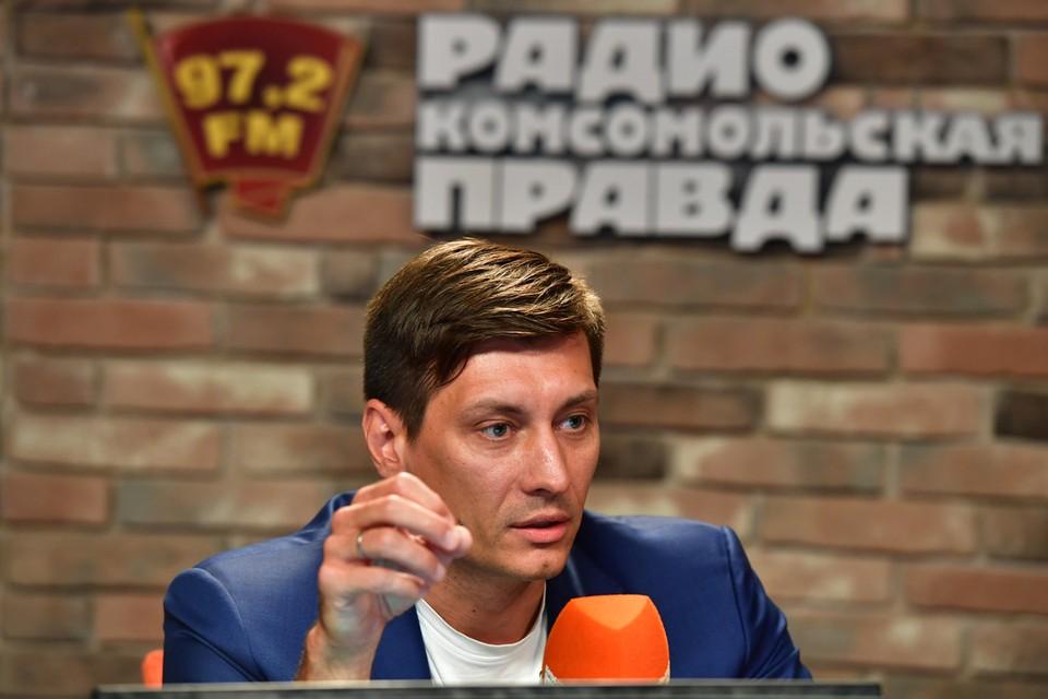 Дмитрий Гудков в студии Радио «Комсомольская правда».