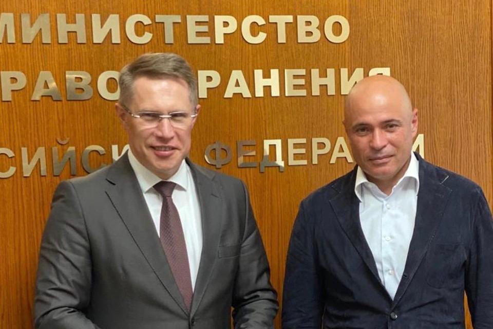 Губернатор Липецкой области встретился с министром здравоохранения России