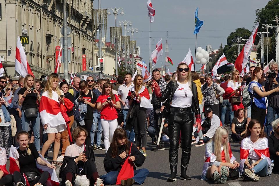 30 августа протесты в Минске продолжились