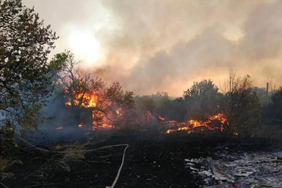 В Ростовской области начали эвакуацию людей из-за массового пожара