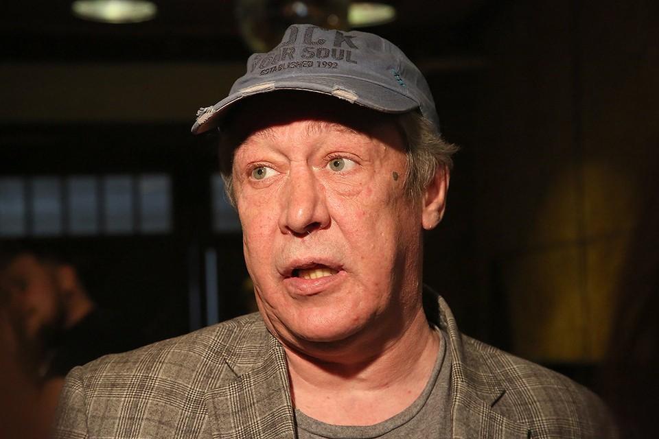 Актер Михаил Ефремов в 2018 г.